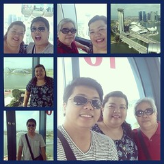 Singapore Flyer with Mom & Paolo #leleinsg