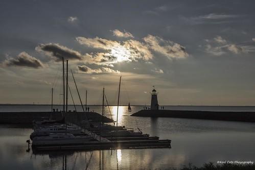 sunset lake reflection oklahoma water clouds canon sailing boating oklahomacity lakehefner ef24105mmf4lisusm