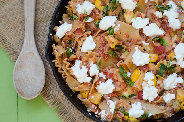 Summer Vegetable Skillet Lasagna