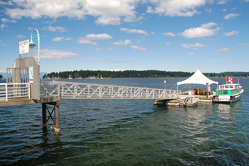 Ferry dock for Newcastle Island, Nanaimo, Vancouver Island, British Columbia, Canada