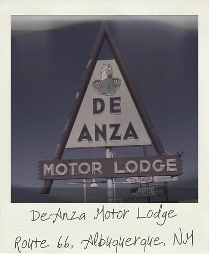 DeAnza Motor Lodge sign - Route 66, Albuquerque, New Mexico