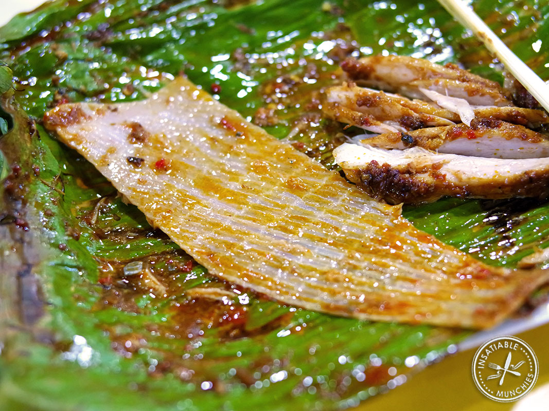 There is cartilage that runs through a barbecued stingray - don't eat it by accident!
