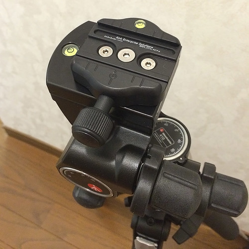 Manfrotto 410 Junior Geared Head + KIRK Quick Release Clamp