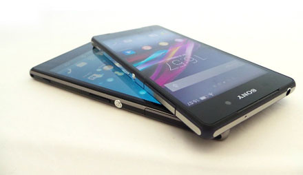 Sony Xperia Z2 vs Xperia Z1 Display