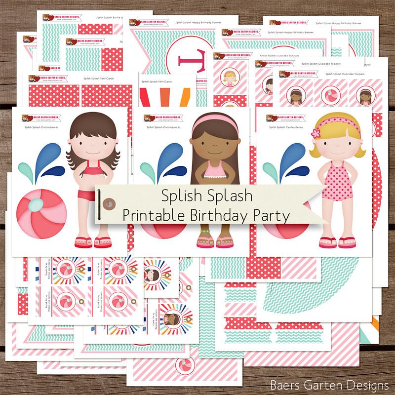 Splish Splash Printable Birthday Party