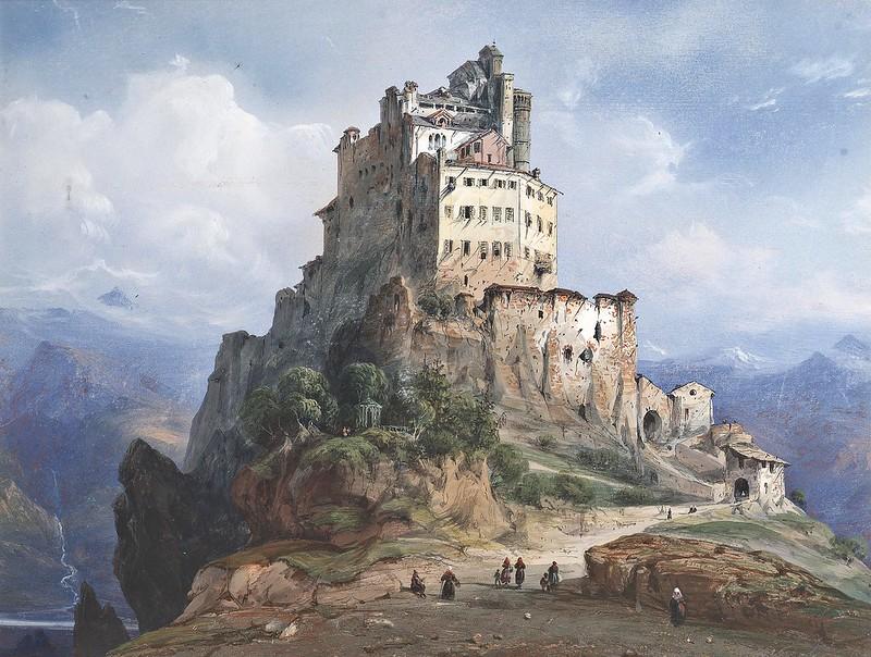 Carlo Bossoli - Il Monastero di San Michele, Italia
