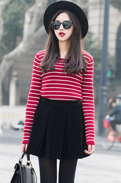 Mê mẩn áo kẻ sọc/ngang Nữ, Sơmi kẻ Hàn Quốc tuyệt đẹp 7