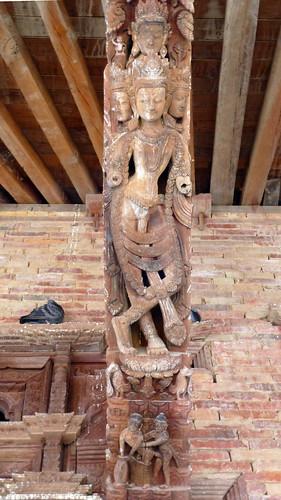 Nepal- Kathmandu - Jagannath Temple - Erotic Wood Carvings - 11