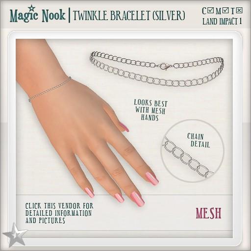 [MAGIC NOOK] Twinkle Bracelet MESH (Silver)