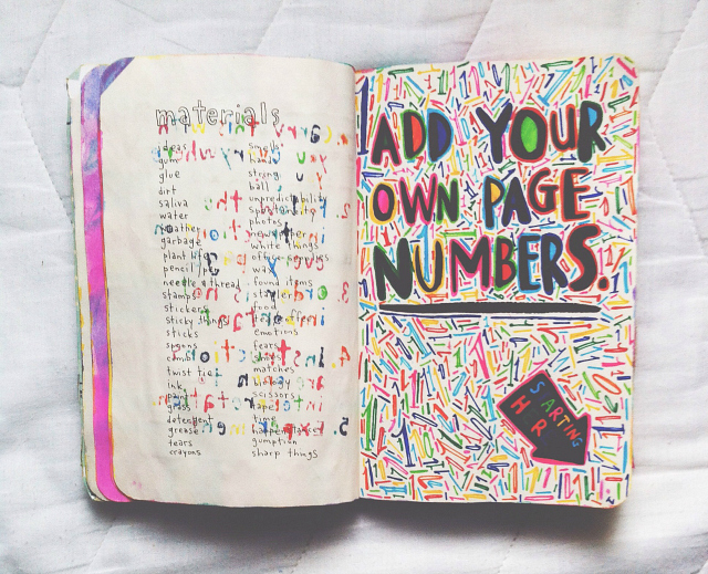 vivatramp wreck this journal add page numbers example lifestyle book blogger