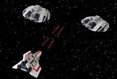 Battlestar Galactica: Colonial Viper vs Cylon Raiders