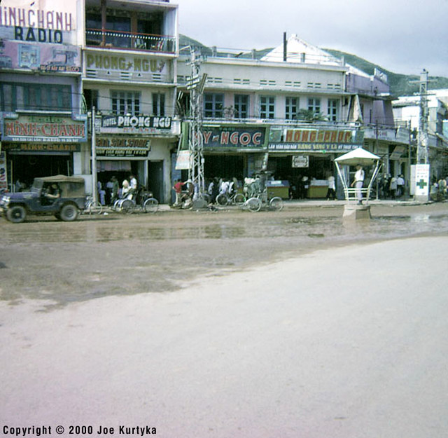 Downtown QUI NHON 1966-67 - Main intersection in Qui Nhon. Vo tanh street