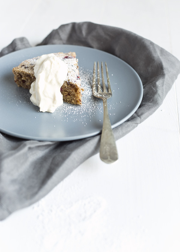 Raspberry & Cacao Nib Tea Cake | The Gluten Free Scallywag