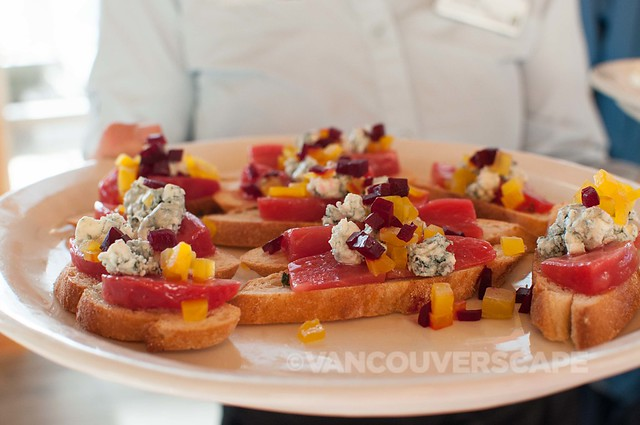 Roasted beet salad, crumbled blue cheese
