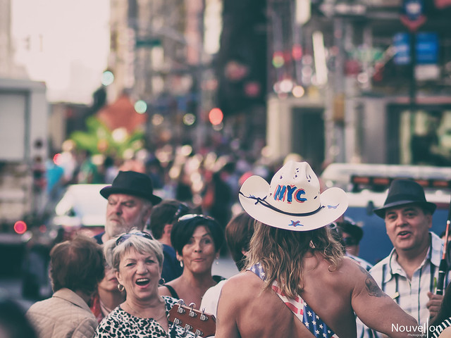 Naked cowboy time square