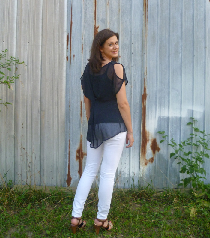 Simple Shirt Refashion back