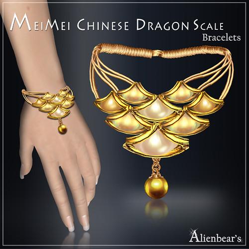MeiMei Dragon Scale Bracelet Creamy