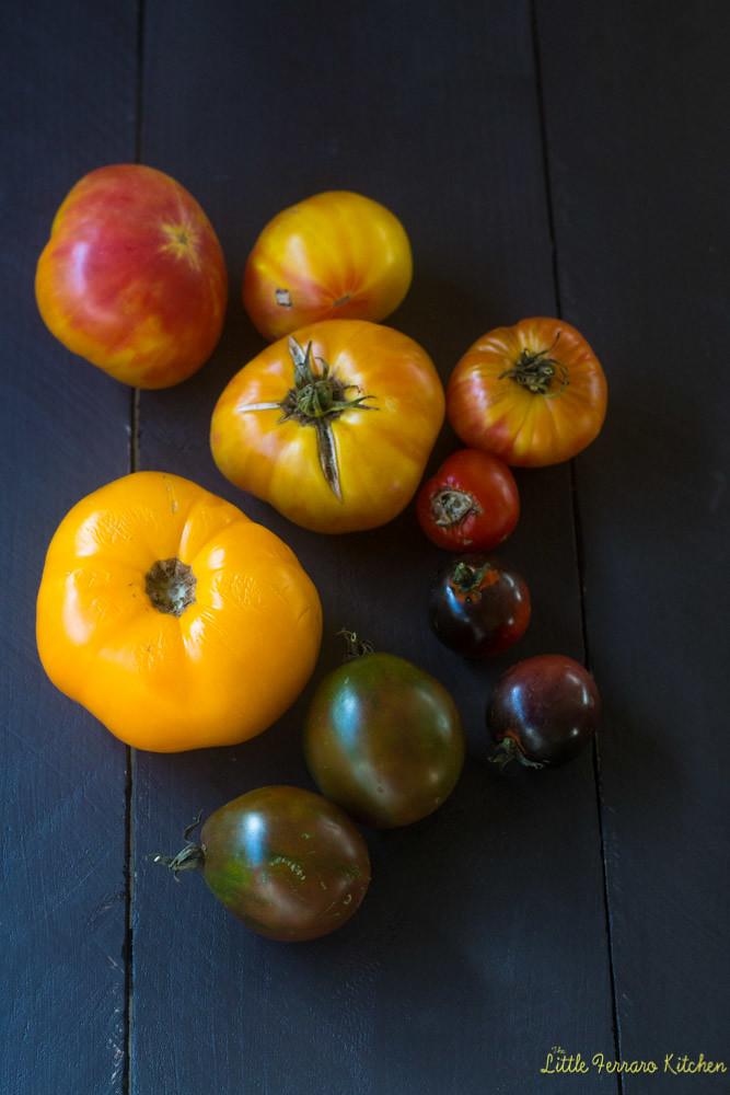 Heirloom Tomato and Polenta Quiche via LittleFerraroKitchen.com