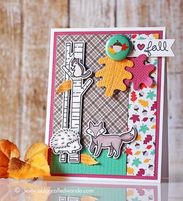 Lawn Fawn Fall card by Wanda Guess