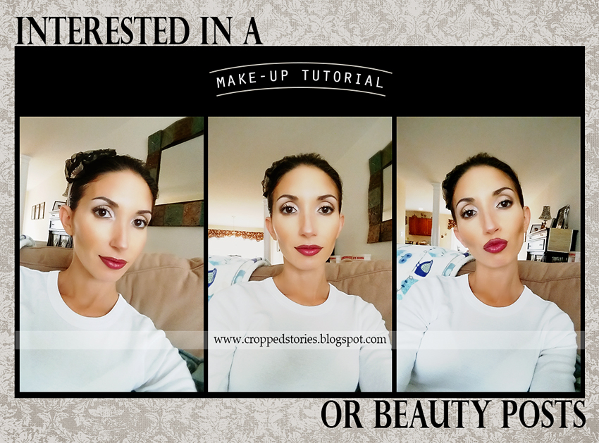 Makeup Tutorial Youtube videos or Beauty Blog via Cropped Stories