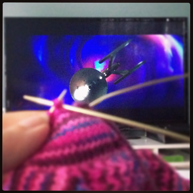 My knitting matches the nebula in Wrath of Khan. #geekySaturday