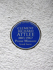 Photo of Clement Richard Attlee blue plaque