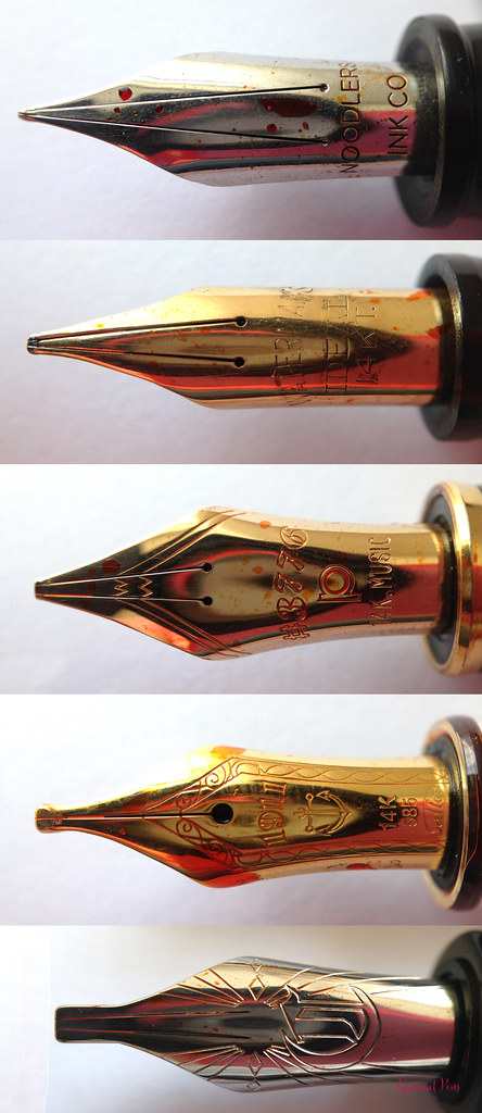 Music Nib Comparisons - Large