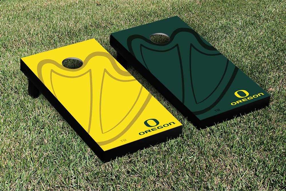 Oregon Ducks Cornhole Game Set Watermark Version