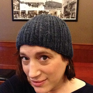 Today's hat finished at Purlygirls. Wylam by Katya Frankel.