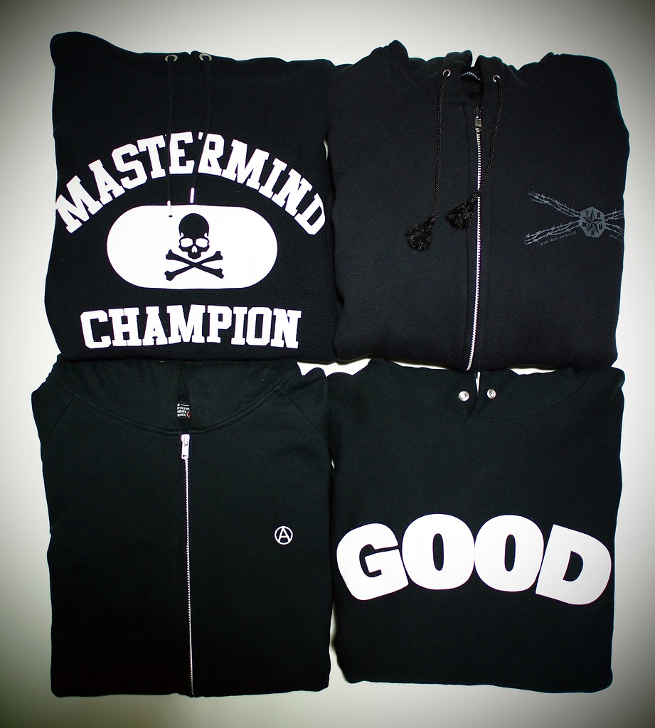 Black Hoodie | mastermind JAPAN × Champion , UNDERCOVER , AFFA , GOODENOUGH