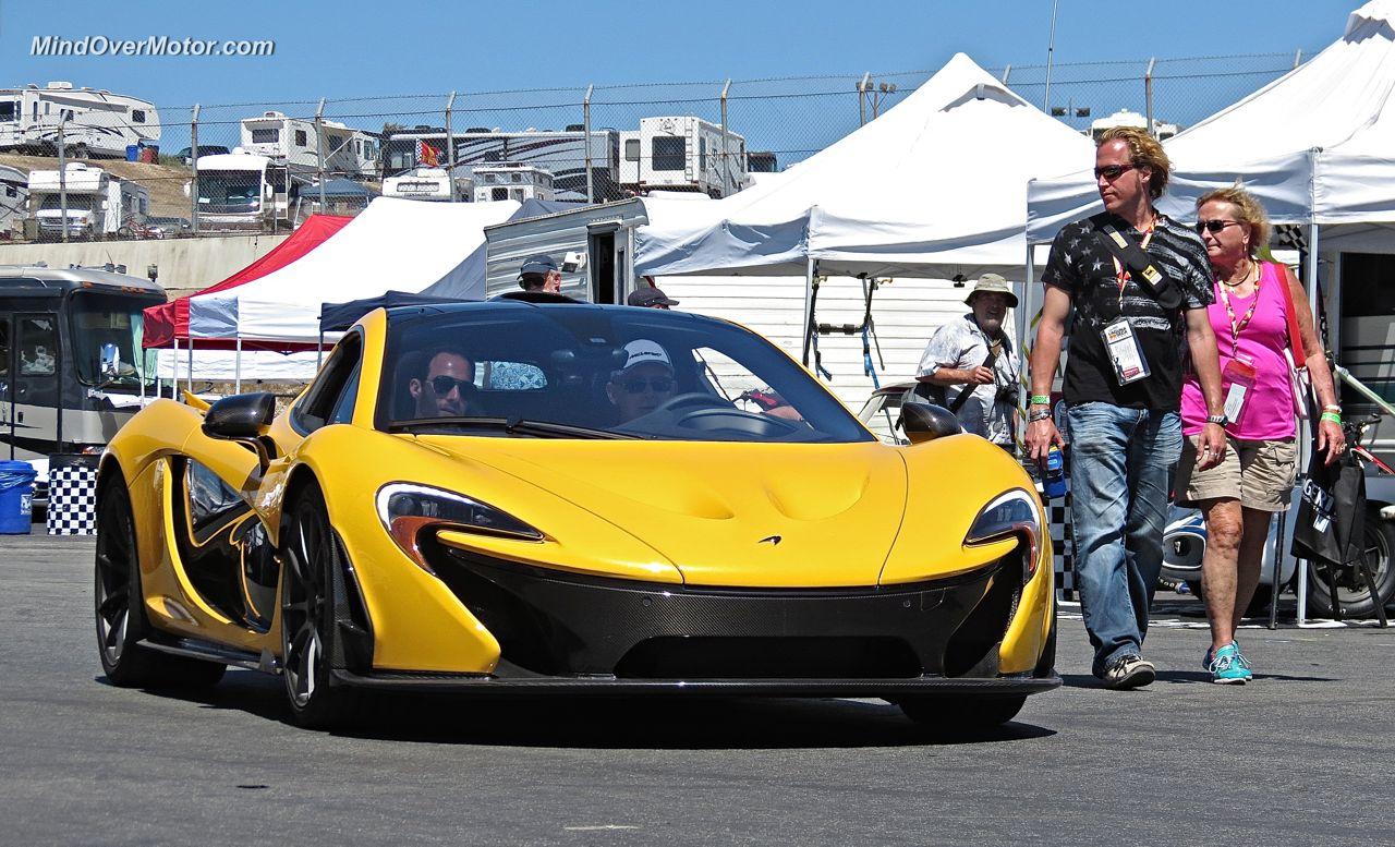 Yellow McLaren P1 Laguna Seca
