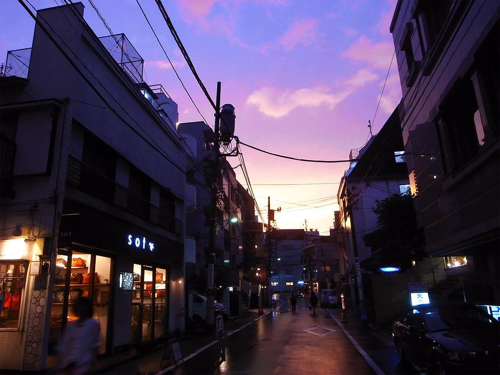 台風後の夕焼け