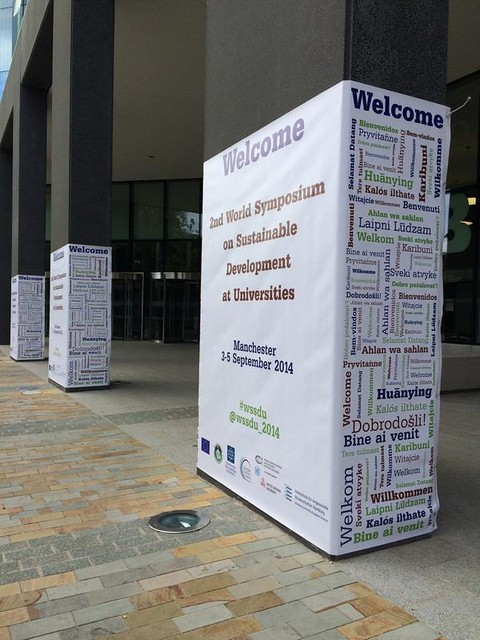 Welcome banners at the Business School