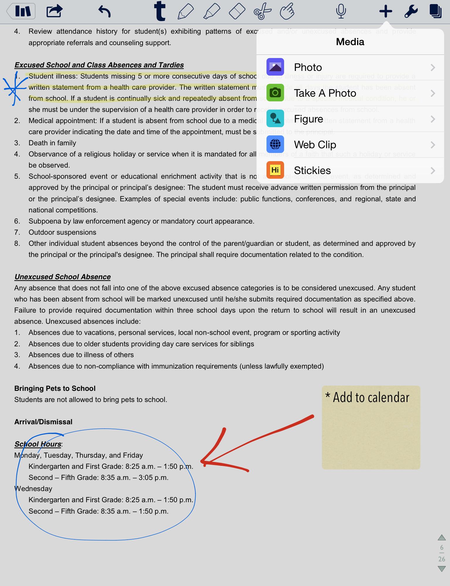 notability screenshot 4