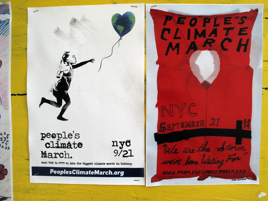 a poster for the people's climate march