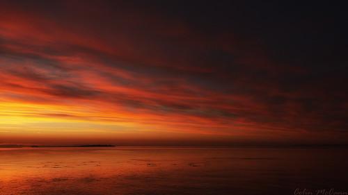 red orange canada sunrise point bc britishcolumbia victoria vancouverisland pt clover trialisland