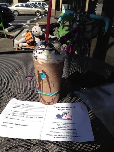 Finish at Jim and Patty's coffee. Love that Mocha Mint Freeze.