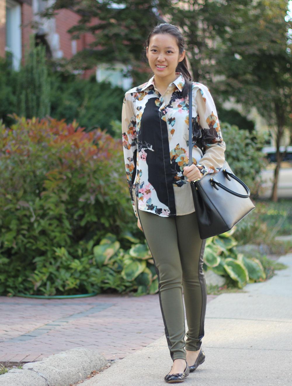 Ralph Lauren Newbury Double Zip satchel with shoulder strap