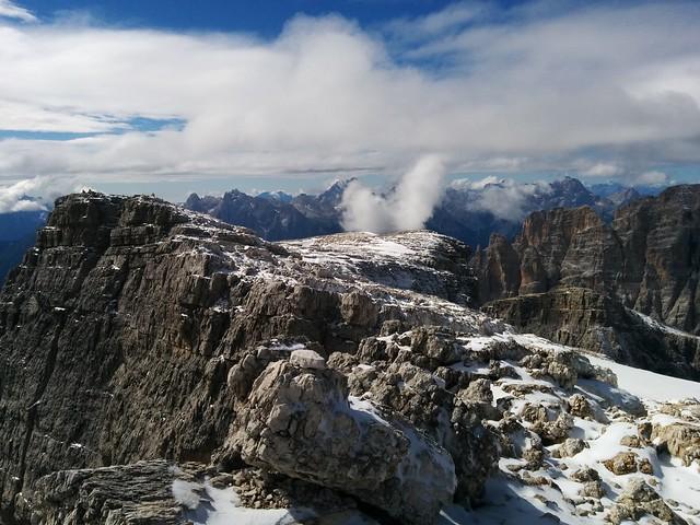 Gipfelausblick Hochbrunner Schneid, Hochpustertal Südtirol