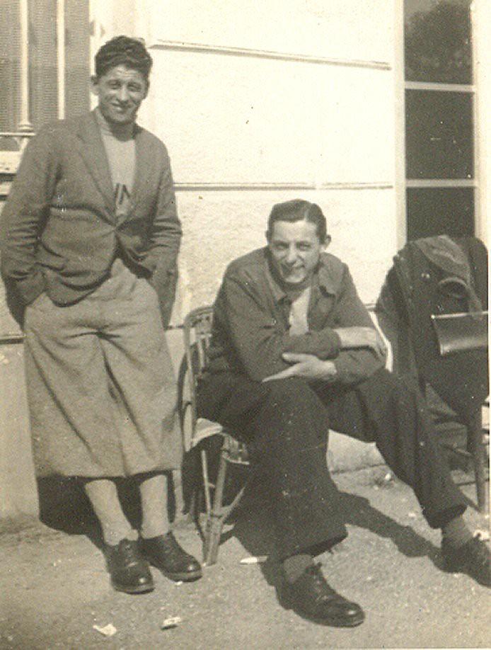 Isidoro Bergaglio  con Fausto Coppi