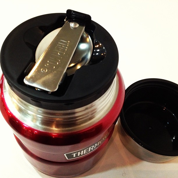 My Thermos Stainless King Food Jar comes with foldable spoon