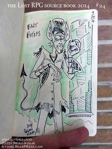 09-20-2014 #dailydrawing #lostRPG 1 Bart Batlos