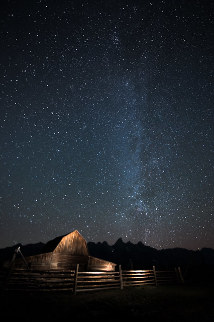 4 a.m. The Milky Way at the Mormon Barns, Tetons