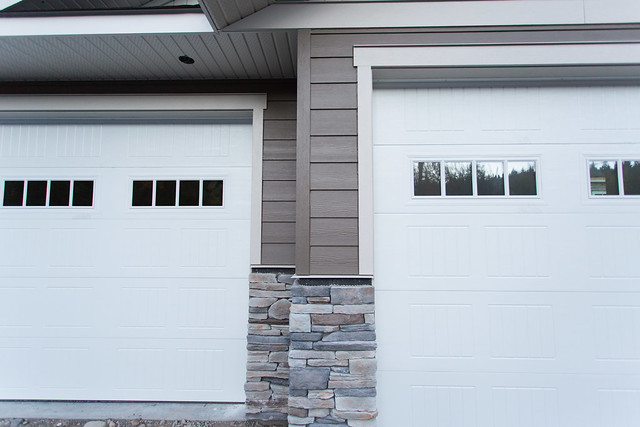 Stone, siding, doors and trim