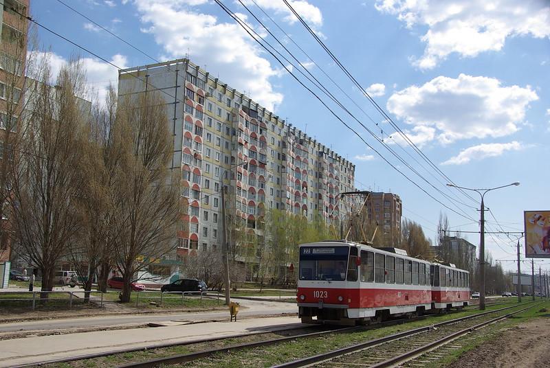 Samara tram Tatra T6B5SU 1023