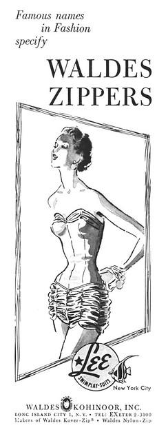 Waldes Zipper, 1953