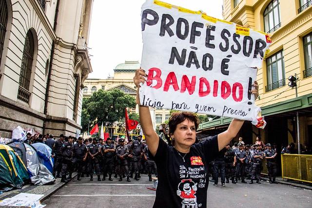 Segundo CNTE, das suas 48 entidades filiadas, entre redes municipais e estaduais, 36 já aderiram ao movimento - Créditos: Pablo Vergara