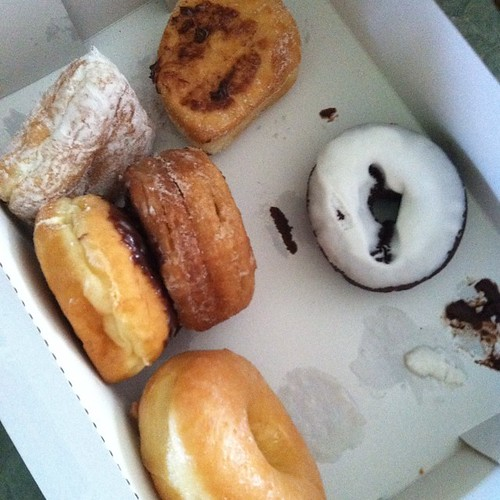5 kids demolished most of the box for #nationaldonutday