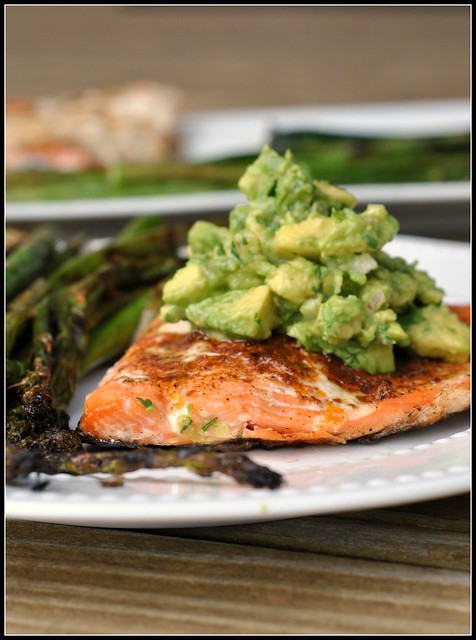 Grilled Salmon with Avocado Salsa 2