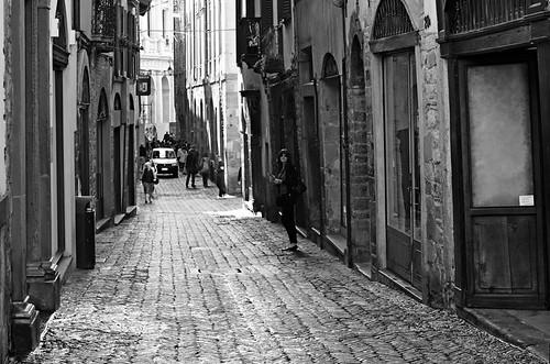 Old street in Bergamo, Italy